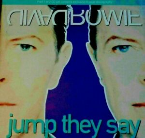 ULTRA RARE ;  DAVID BOWIE - JUMP THEY SAY CD. BRILLIANT. MY MANY OTHER D B CD'S.