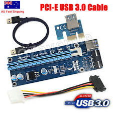 PCI-E PCI Express PCIE 1x To 16x Adapter GPU Riser Card USB 3.0 Extension