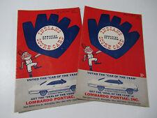 1965 Cleveland Indians Official Score Card/Program Indians Vs Minnesota Twins