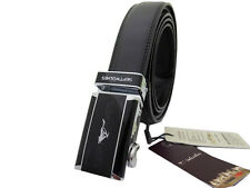 Septwolves men real Genuine cow leather belt Auto lock Buckle black 20001J