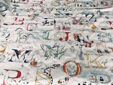 "Brand new length of SANDERSON ""Alphabet Zoo"" by Tony Trickey, length 8.15mts"