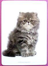 SWAP CARD. GORGEOUS PERSIAN KITTEN. RARE. LINEN. WIDE. CUSTOM. MINT COND. CAT