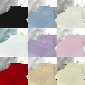 Brushed 100% Cotton Flannel Flannelette Plain Duvet Quilt Cover Bedding Set
