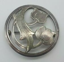 Art Deco 835 Silber Brosche