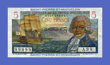 SAINT PIERRE & MIQUELON - 5 FRANCS 1950s - Reproductions