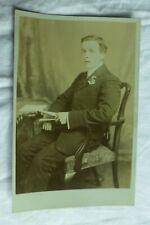 M542 Real Photo YOUNG MAN Studio Portrait BROWN MANCHESTER Postcard c1910