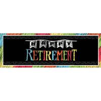 "Giant Happy Retirement Banner 20"" x 60"" Adult Party Decoration Supplies Black"