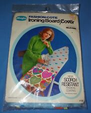 1970s Nos New Magla Groovy Colorful Hearts Vintage Ironing Board Cover Nrfp