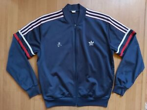 Vintage 1980s Adidas Roland Garros Track Jacket ATP Tennis Trefoil Tracksuit Top