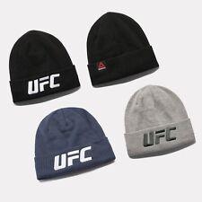 Reebok UFC Beanie MMA Fight Knit Hat Headwear Women Men Unisex Black EI0814 Gray
