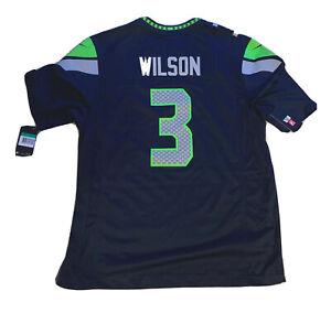 SEATTLE SEAHAWKS RUSSELL WILSON #3 NFL ON FIELD NIKE JERSEY