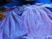 lot=====12-18mois neuves 2robes fillette ou poupée 60cm