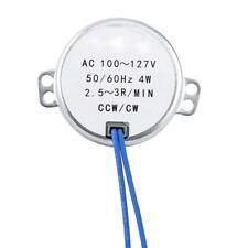 2.5-3Rpm, Synchronous Motor 50/60Hz Ac 100-127V 4W Ccw/Cw Ac Motor New