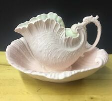 Ceramic Shell Pitcher & Shell Victoria Style Wash Basin & Bowl