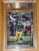 POP 2!💎Aaron Rodgers 2015 Topps CHROME XFRACTORS #2 bgs 9.5 psa 🔥HOT Refractor