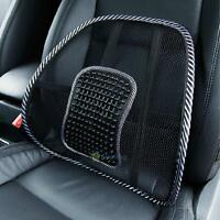 2X Mesh Lumbar Back Brace Support Office Home Car Seat Chair Cushion Cool Black