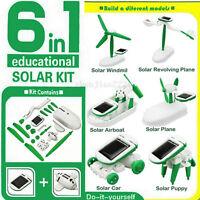 Creative DIY 6 IN 1 Educational Learning Toys Solar Power Robot Kit Children Toy