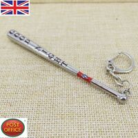 Suicide Squad Harley Quinn Metal Good Night Baseball Bat Keychain Key Ring NEW