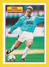 FOOTBALL - SOCCER STARS POSTCARD -  PAUL  GASCOIGNE  OF  LAZIO  -  1993