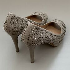 Next High Heel Diamond Stud Shoes - Size 9 UK-Grey