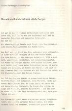 Gertrud fussenegger, humano y paisaje y varias preocupaciones, Humboldt-Ges 1981