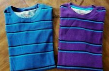 NEW Men's Shirts Sizes M, L, XXL Amplify Long Sleeve Striped Waffle 100% Cotton