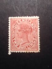 Queensland SG 197 QV 1890-94 Red-brown Mounted Mint