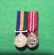 Replica Australian Operational service Medal and Australian defence medal  mini