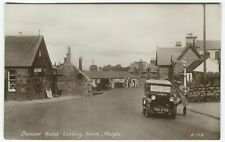 More details for dundee road looking north, meigle, garage, car - perthshire postcard t l brown