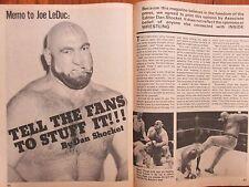 July-1977 Inside Wrestling(JOE  LEDUC/GEORGE  STEELE/JOSE  LOTHARIO/DUSTY RHODES