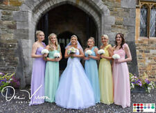 1 Shoulder Chiffon Bridesmaid Wedding Dress Ballgown Long Short A Line Maxi UK