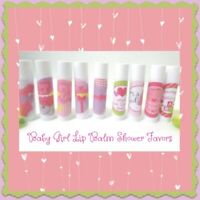 Baby Girl Shower Personalized Lip Balm Favors-Free Personalization Set of 25
