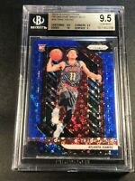 TRAE YOUNG 2018 PANINI PRIZM FAST BREAK BLUE REFRACTOR /175 ROOKIE BGS 9.5 10