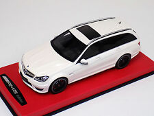 1/18 GT Spirit Mercedes Benz C Class C63 AMG Touring in White Leather Base GT147