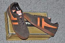 Gola Harrier ZCMA192 Retro Classic Brown / Orange Fashion Sneakers Sz 8 NEW