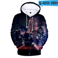Sword Art Online SAO Anime Sweatshirt Long Sleeve Hoodie Pullover Daily Coat