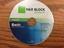 2011 H&R Block TaxCut Federal Basic turbo New sealed CD formerly Tax Cut