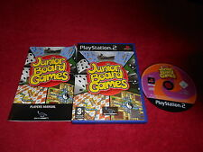 JUNIOR BOARD GAMES ORIGINAL BLACK LABEL SONY PLAYSTATION 2 PS2 PAL VGC
