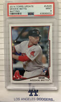 2014 Topps Update Batting Mookie Betts ROOKIE RC #US26 PSA 9 MINT