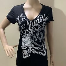 Metal Mulisha Ladies Eternity V-Neck Tee Size S
