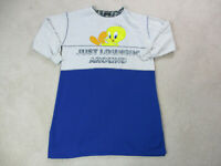 VINTAGE Tweety Bird Sweater Womens Extra Large Gray Blue Looney Tunes 90s *
