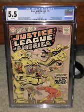 Brave and the Bold #29 CGC 5.5 DC 1960 2nd Justice League! WP! G11 123 1 28 cm
