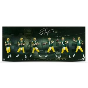 """Brett Favre Signed Autographed 15X36 Photo """"Art of the Pass"""" Packers #/74 UDA"""