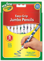 Crayola 8 Jumbo Decorated Pencils - FREE & FAST DELIVERY.