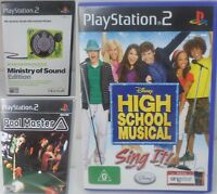 Playstation 2 PS2 Game - Pool Master, Moderngroove, High School Musical Sing It