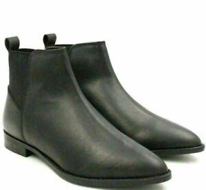 Asos Design Women Ankle Chelsea Boots Atom Size US 6 Black Leather