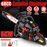 "5KW 68CC Chainsaw Power Gasoline 20"" Chain Bar W/ Brake Wood Cutting Machine New"