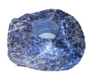 Sodalite Blue Tea Light Holder Natural Gemstone Holder 2.2lbs