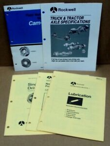 Lot/5 ROCKWELL Field Maintenance Manuals Lubrication 1 Axles 2 Cam Master 4 5