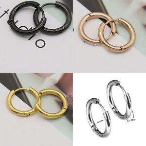 1pair 8-20mm Hoop Earrings Round Circle Huggie Earrings Loop Women Ear ring C2UK